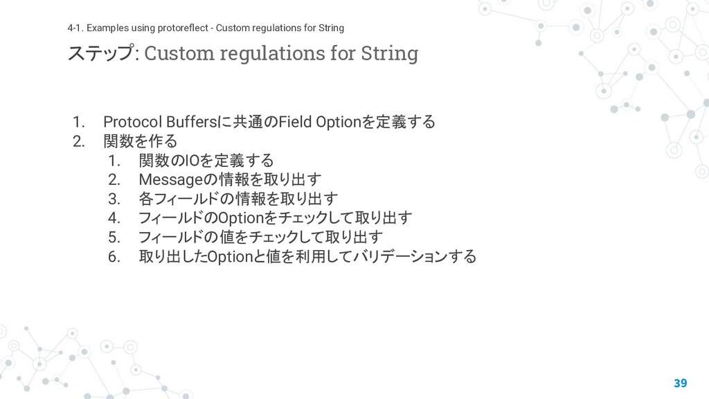 1. Protocol Buffersに共通のField Optionを定義する 2. 関数を...