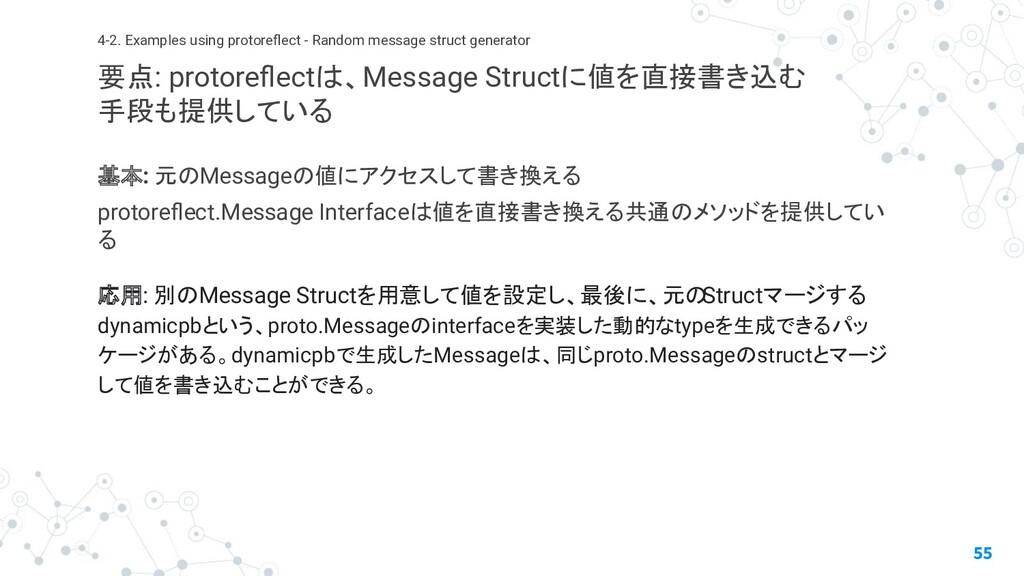 基本: 元のMessageの値にアクセスして書き換える protoreflect.Message...