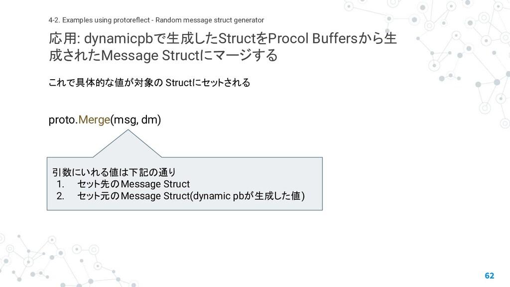 これで具体的な値が対象の Structにセットされる proto.Merge(msg, dm)...