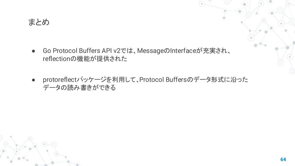 ● Go Protocol Buffers API v2では、MessageのInterfac...