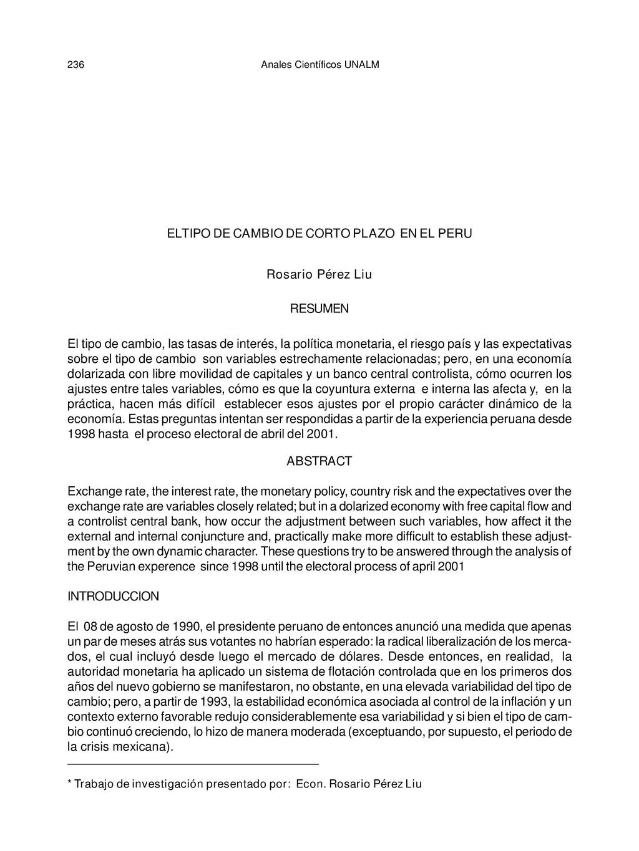 Anales Científicos UNALM 236 Rosario Pérez Liu ...