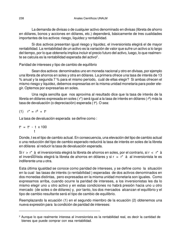Anales Científicos UNALM 238 La demanda de divi...