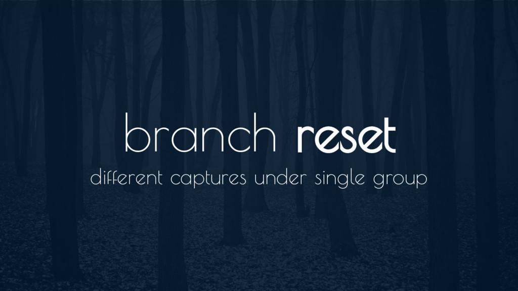 branch reset different captures under single gr...