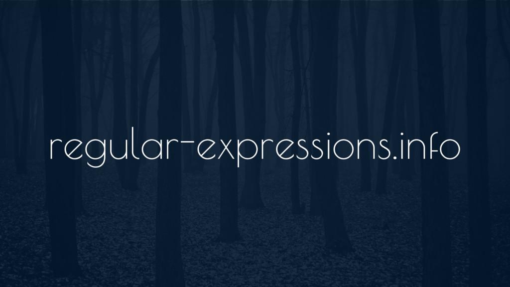 regular-expressions.info