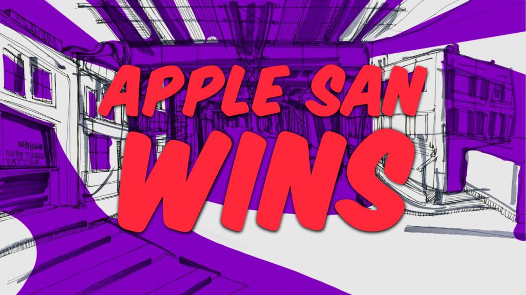 WINS APPLE SAN