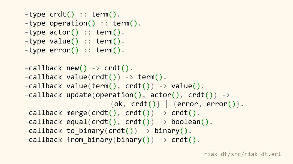 -‐type crdt() :: term(). -‐type operation...
