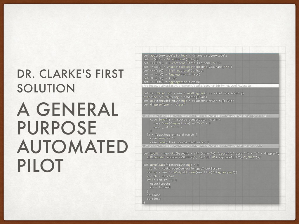 DR. CLARKE'S FIRST SOLUTION A GENERAL PURPOSE A...