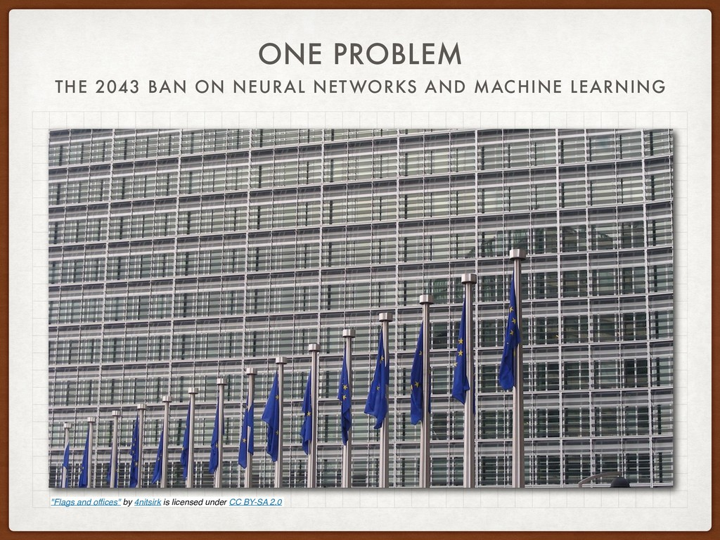 ONE PROBLEM THE 2043 BAN ON NEURAL NETWORKS AND...