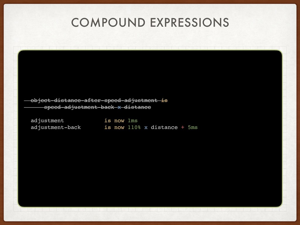 COMPOUND EXPRESSIONS object-distance-after-spee...