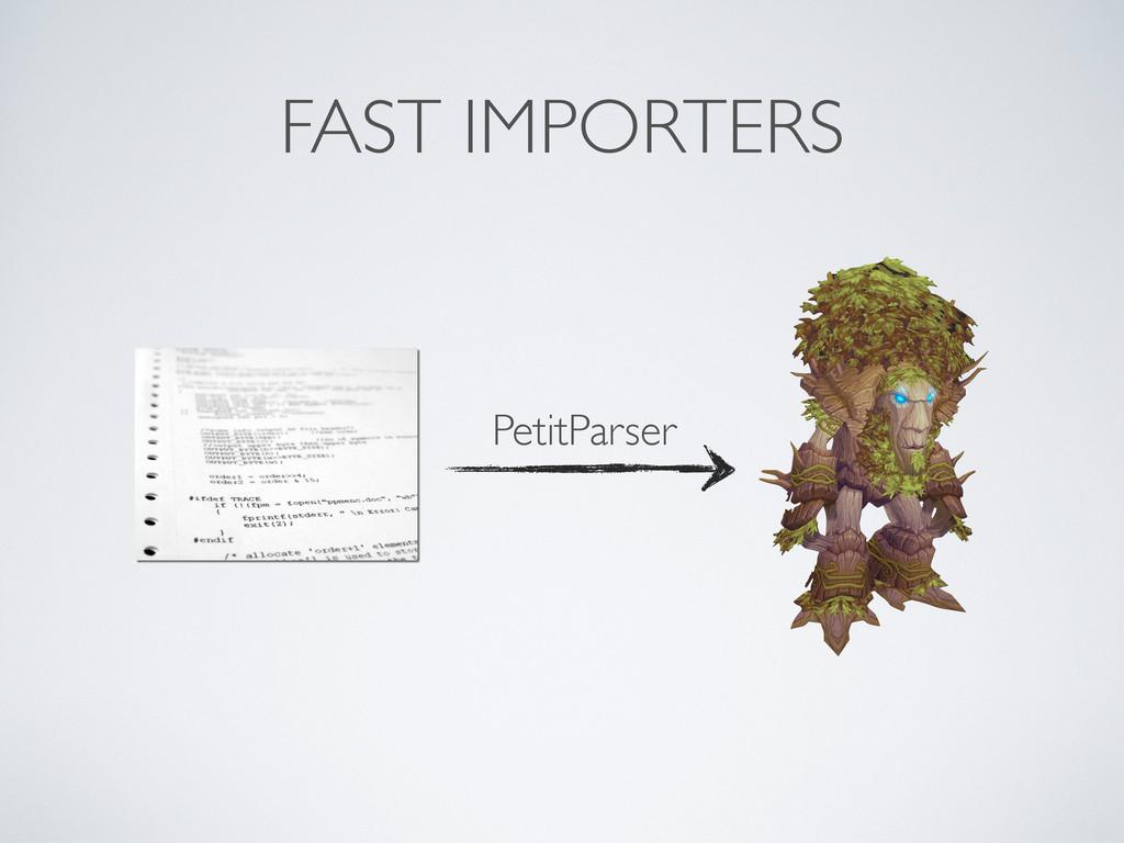 FAST IMPORTERS PetitParser