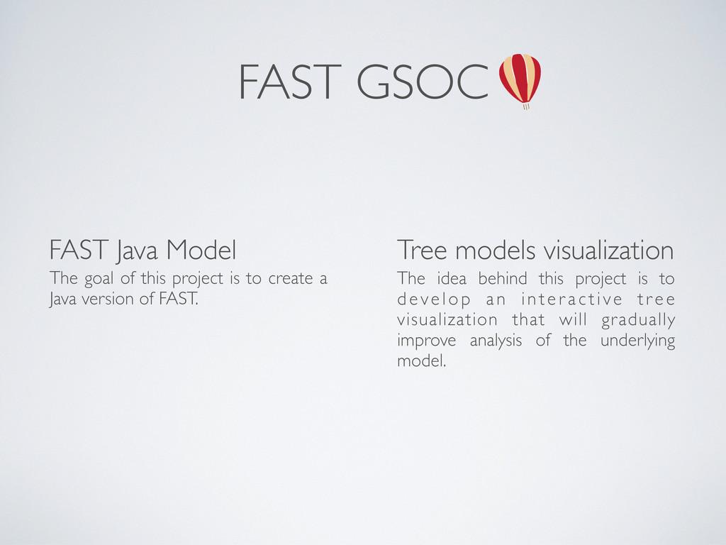 FAST GSOC FAST Java Model Tree models visualiza...