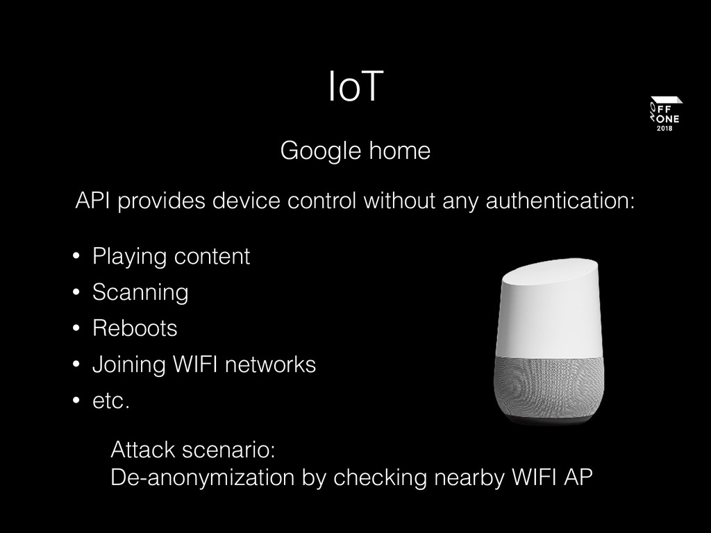 IoT Google home API provides device control wit...