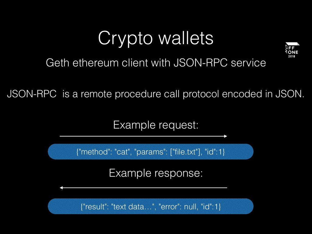 Crypto wallets Geth ethereum client with JSON-R...