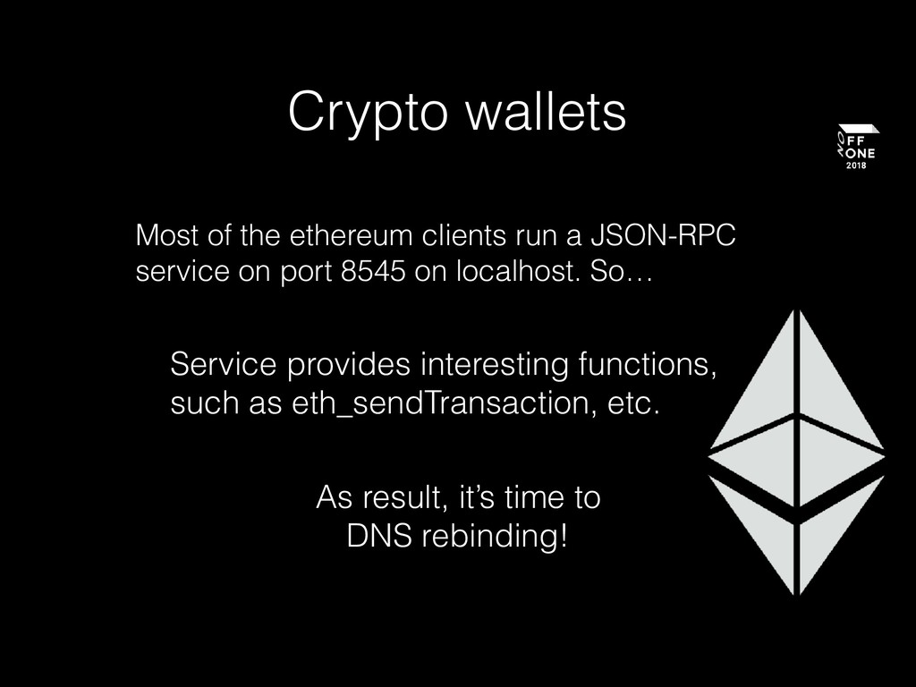 Crypto wallets Most of the ethereum clients run...