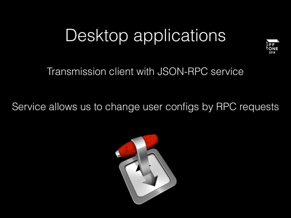 Desktop applications Transmission client with J...