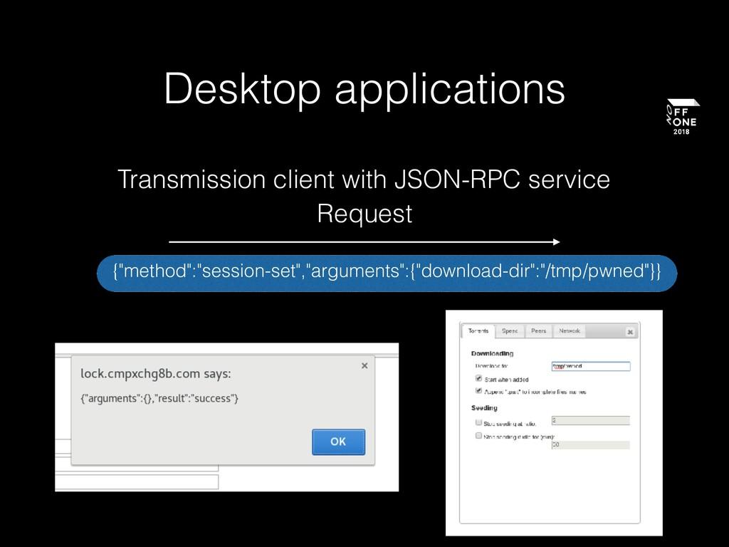 "Desktop applications {""method"":""session-set"",""a..."