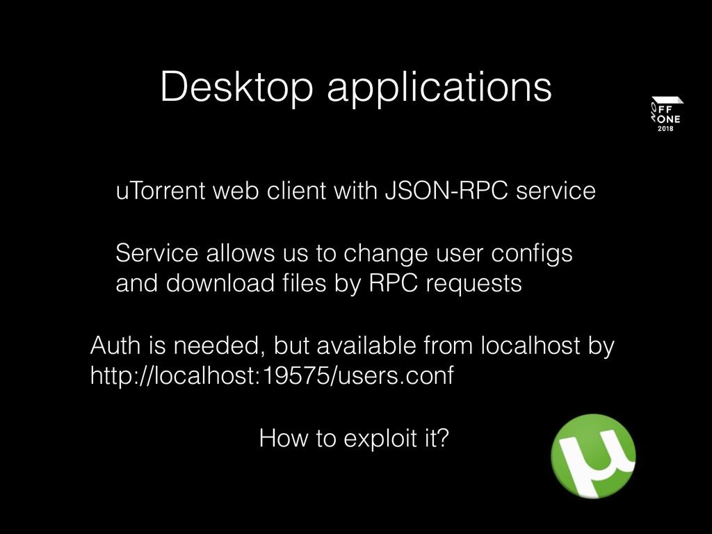 Desktop applications uTorrent web client with J...