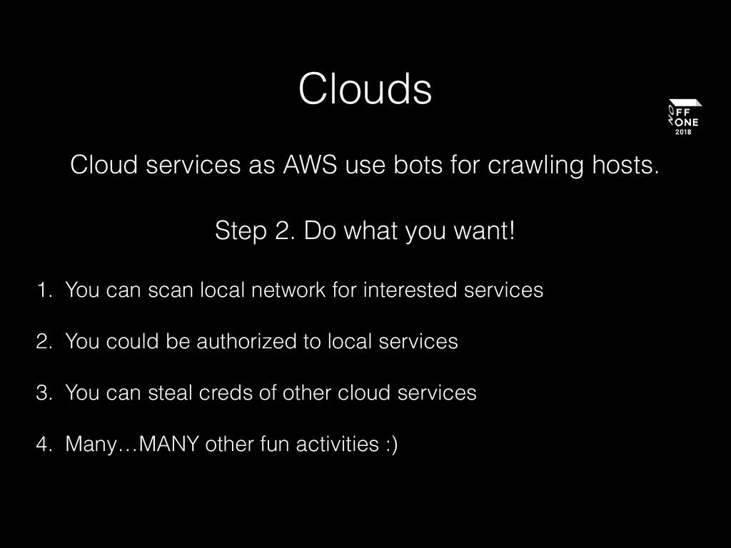 Clouds Cloud services as AWS use bots for crawl...