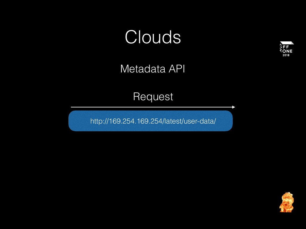 Clouds http://169.254.169.254/latest/user-data/...