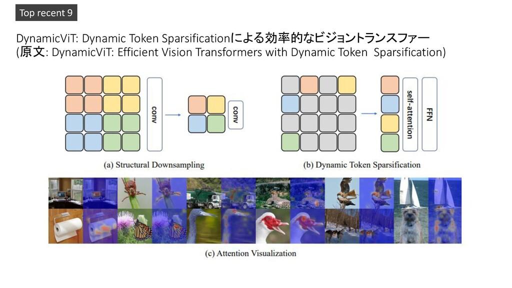 DynamicViT: Dynamic Token Sparsificationによる効率的な...