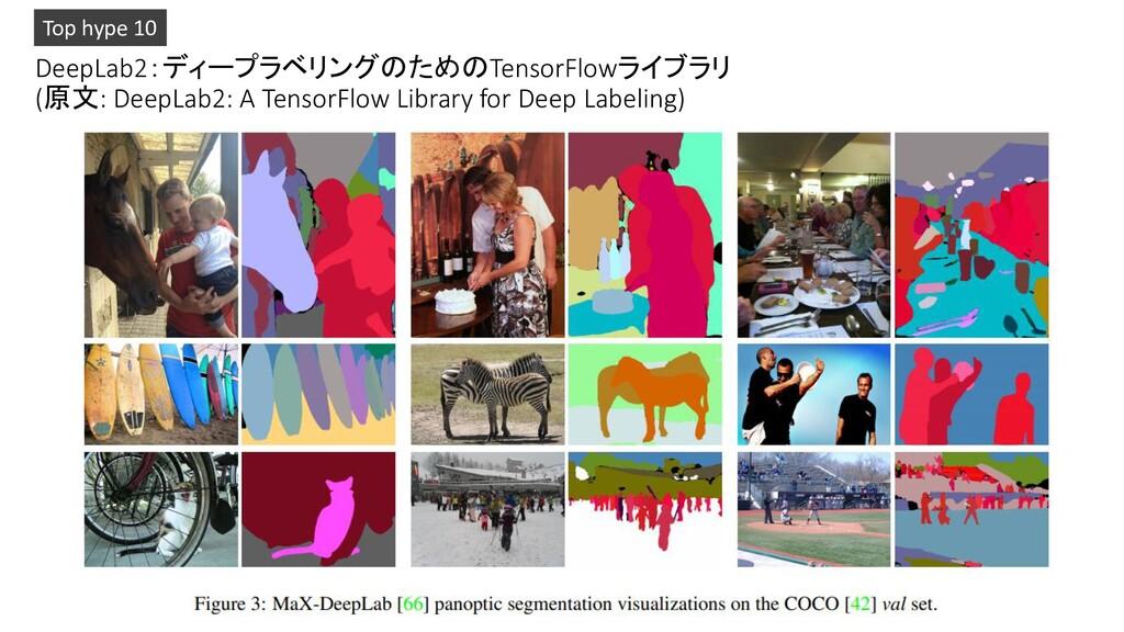 DeepLab2:ディープラベリングのためのTensorFlowライブラリ (原文: Deep...