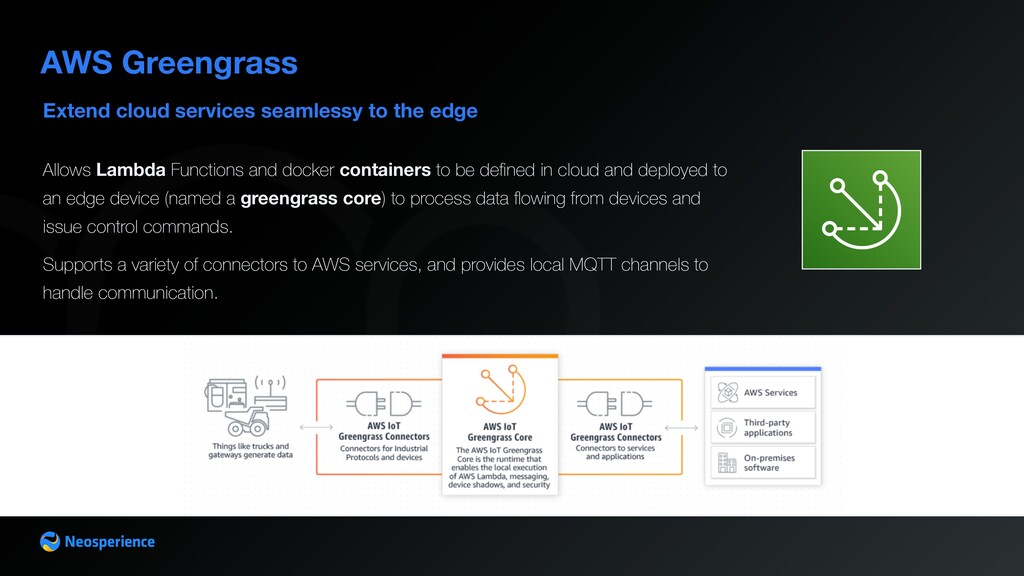 Extend cloud services seamlessy to the edge AWS...