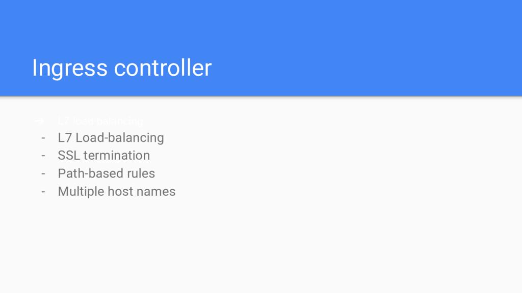 Ingress controller ➔ L7 load balancing - L7 Loa...