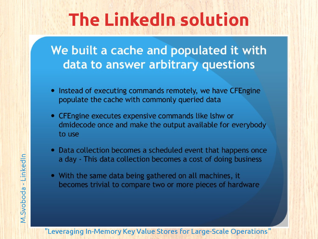 "The LinkedIn solution M.Svoboda - LinkedIn ""Lev..."