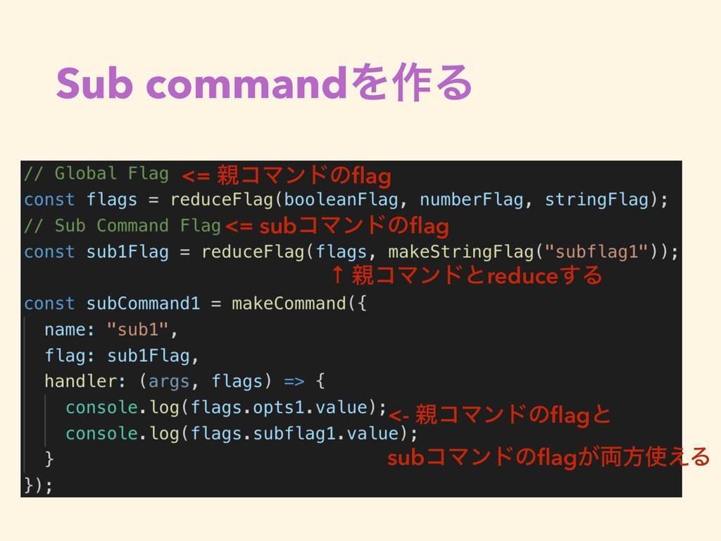 Sub commandΛ࡞Δ <= ίϚϯυͷflag <= subίϚϯυͷflag ↑ ί...