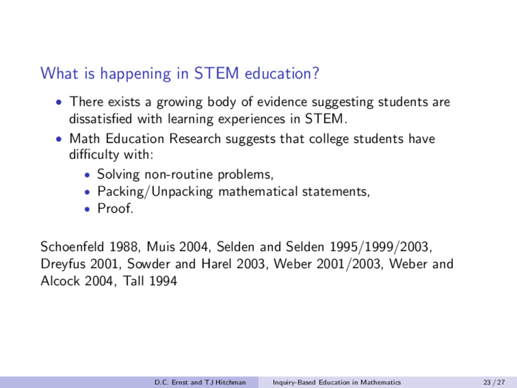 What is happening in STEM education? • There ex...