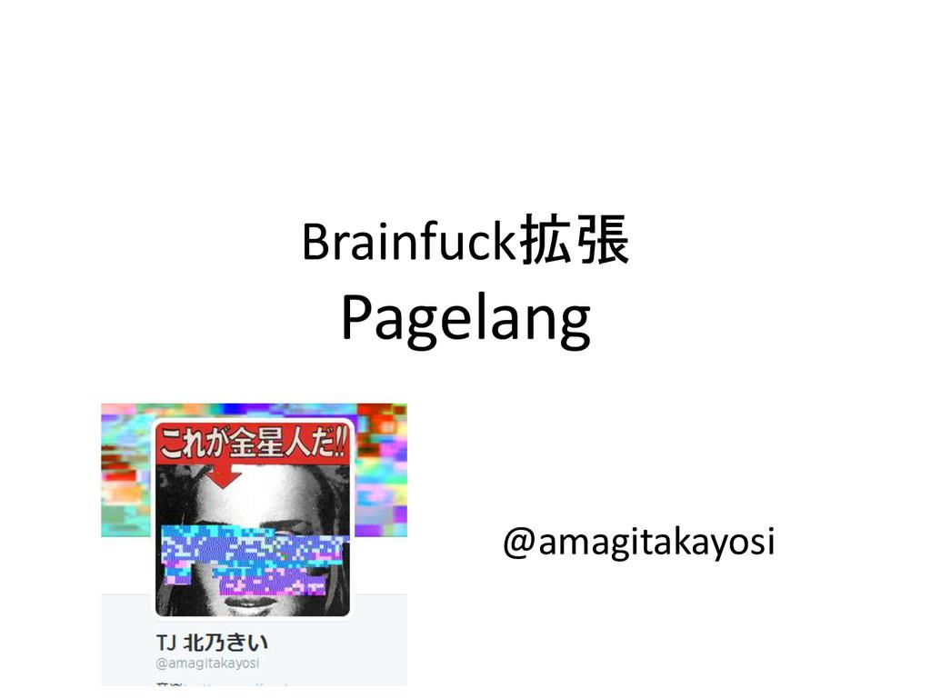 Brainfuck拡張 Pagelang @amagitakayosi