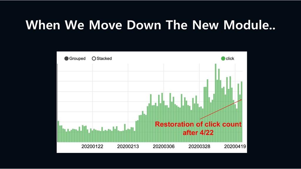 When We Move Down The New Module.. Restoration ...
