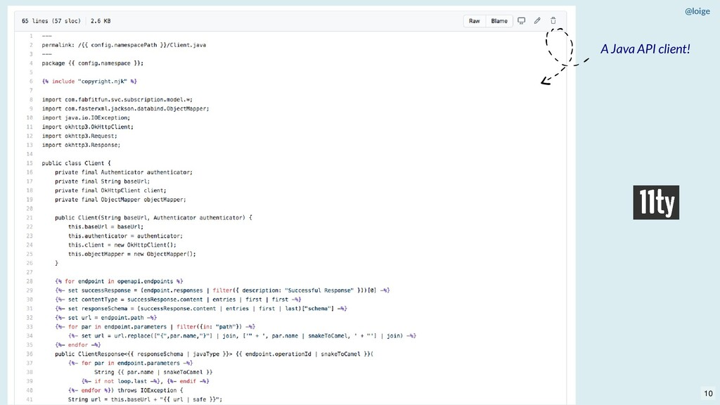@loige A Java API client! 10