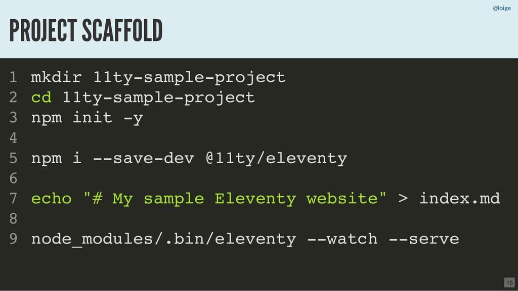 mkdir 11ty-sample-project cd 11ty-sample-projec...