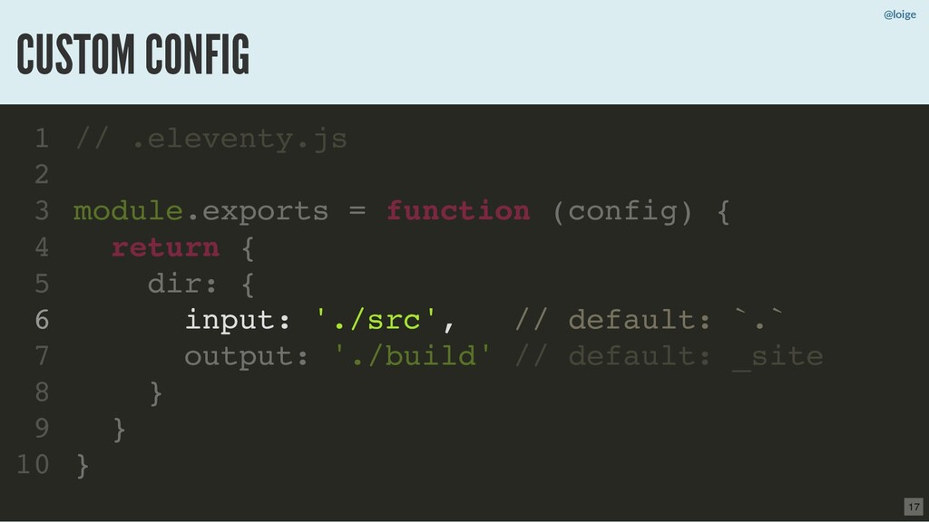 // .eleventy.js module.exports = function (conf...