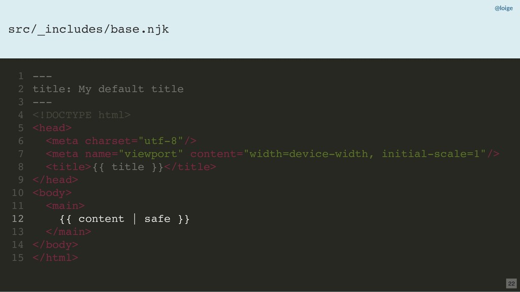 --- title: My default title --- <!DOCTYPE html>...