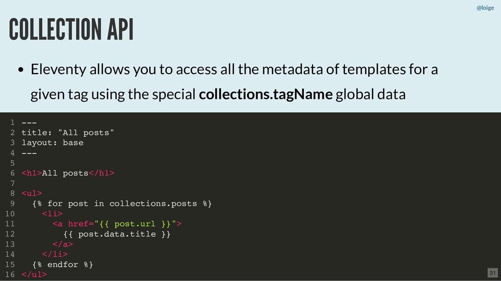 """@loige COLLECTION API --- title: """"All posts"""" la..."""