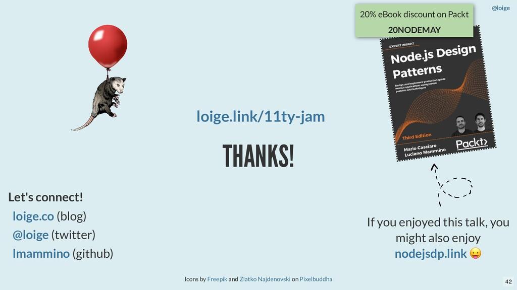 THANKS! Icons by and on Freepik Zlatko Najdenov...
