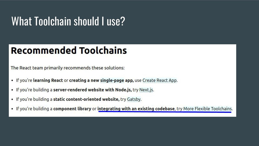 What Toolchain should I use?