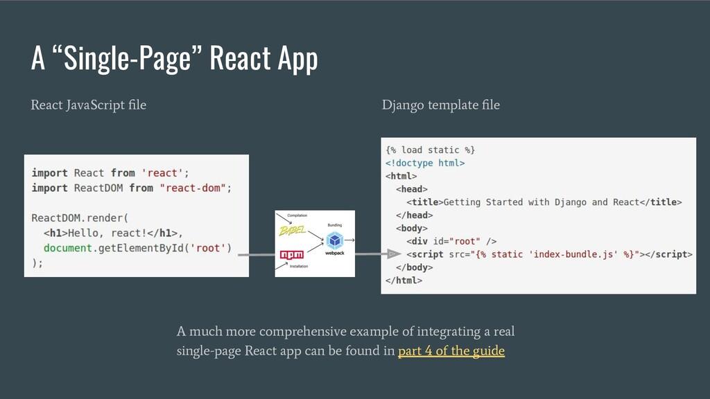 "Django template file React JavaScript file A ""Sin..."