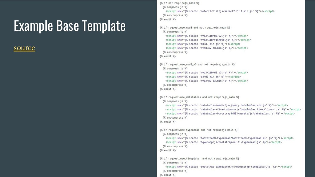Example Base Template source
