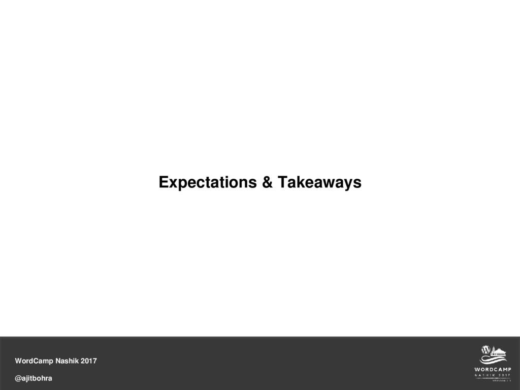 WordCamp Nashik 2017 @ajitbohra Expectations & ...