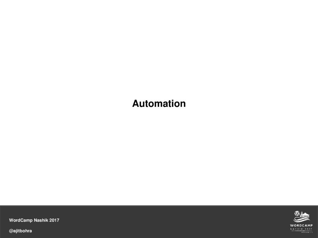 WordCamp Nashik 2017 @ajitbohra Automation