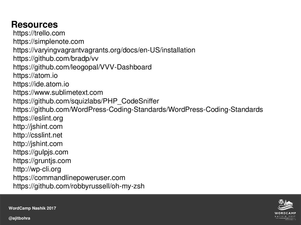 WordCamp Nashik 2017 @ajitbohra Resources https...