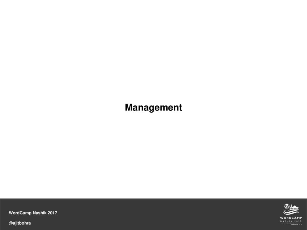 WordCamp Nashik 2017 @ajitbohra Management