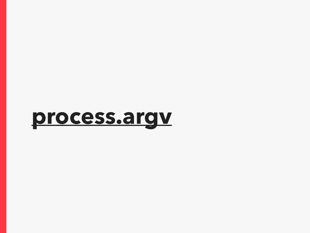 process.argv