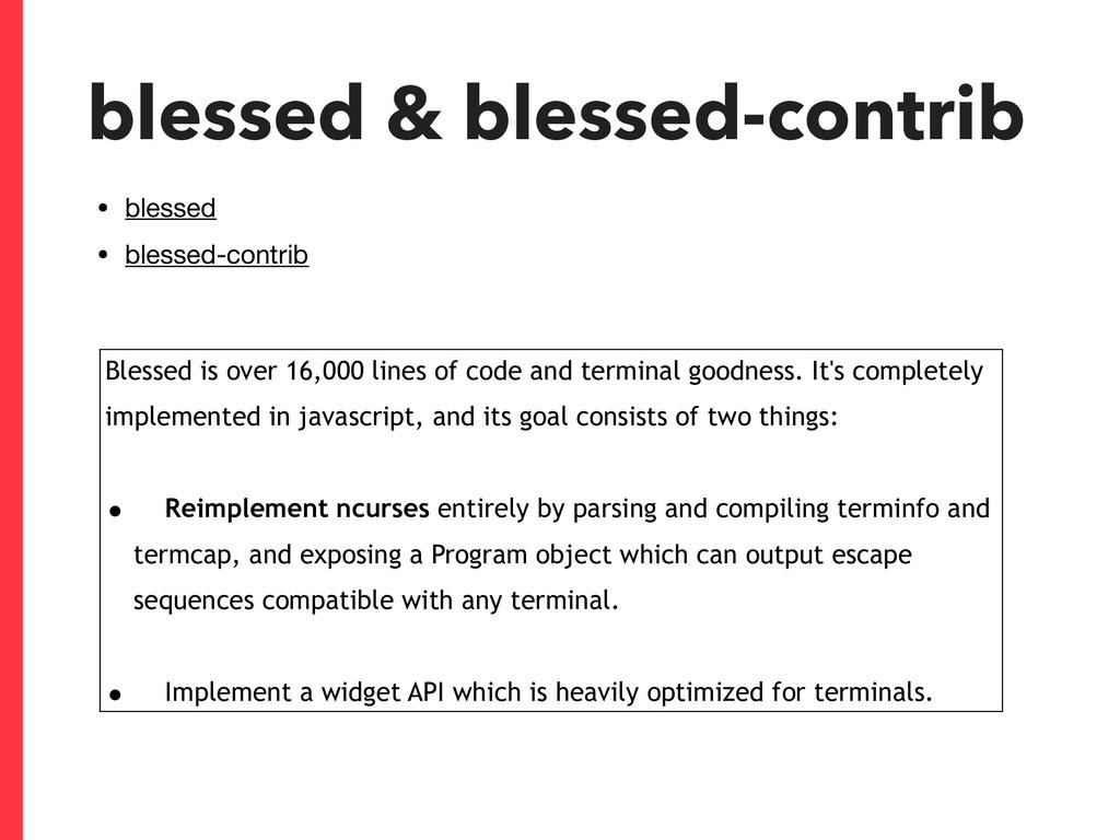 blessed & blessed-contrib • blessed  • blessed-...