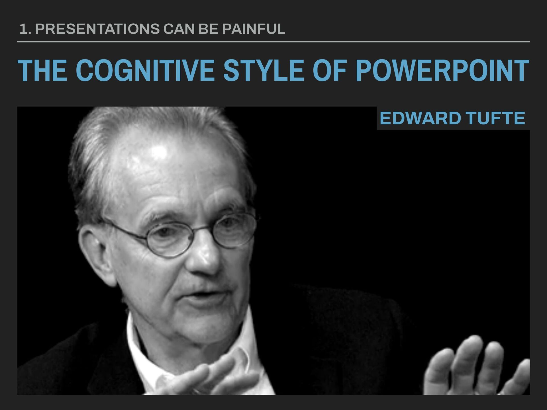 THE COGNITIVE STYLE OF POWERPOINT 1. PRESENTATI...