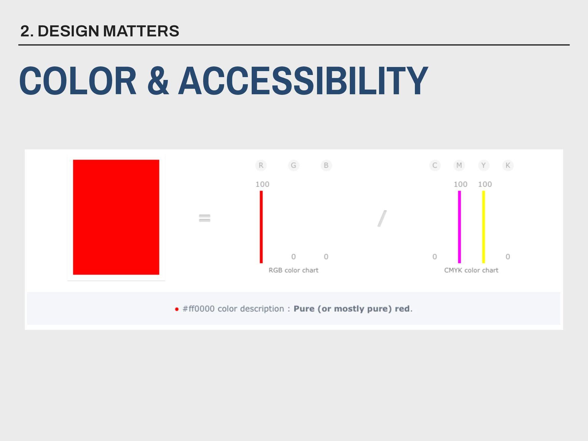 2. DESIGN MATTERS COLOR & ACCESSIBILITY